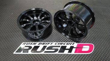 RUSH D DRIFT WHEEL TYPE-B Off7 Black Ten Spoke wheel (テンスポーク)