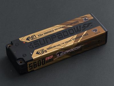 SUNPADOW 7.4V / 5600mAh / 120C リポバッテリー
