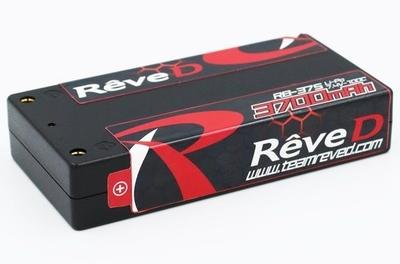 ReveD 7.4V/3700mAh ショートサイズ Li-Po バッテリー