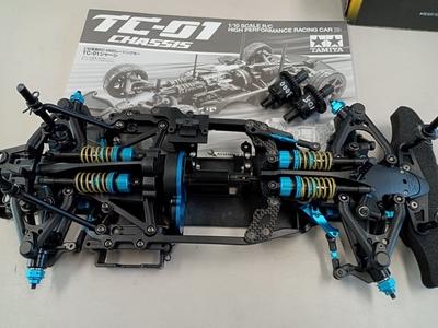 TAMIYA TC-01 オプション多数 Wカルダン装着車 中古 9月7日UP商品