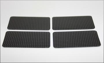RC-MISSION Wing End Plate (Carbon Print) 4pcs
