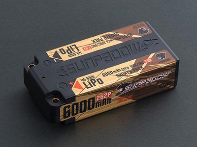 SUNPADOW 7.6V / 6000mAh / 100C リポバッテリー(ショート)