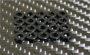 RC-mission Highquality Aluminum shim black 3x6x1mm 20pcs