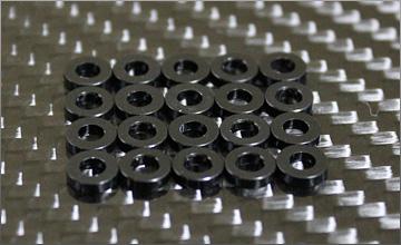 RC-mission Highquality Aluminum shim black 3x6x1.5mm 20pcs