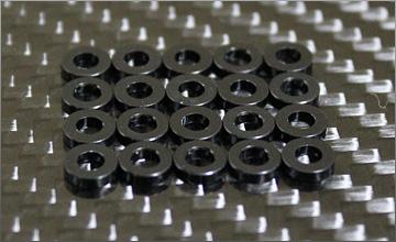 RC-mission Highquality Aluminum shim black 3x6x2.0mm 20pcs