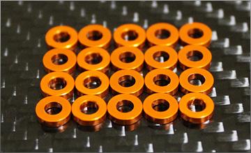 RC-mission Highquality Aluminum shim orange 3x6x2.0mm 20pcs