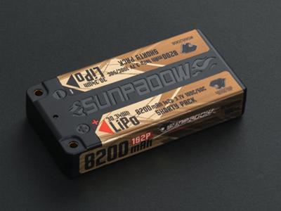 SUNPADOW 3.7V / 8200mAh / 100C リポバッテリー(ショート)