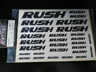 RUSH LONG STIKER ホワイト&ブラック 各1枚入り(計2枚セット)