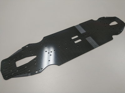 Awesomatix A800MMX Hard Carbon  Main Chassis (2.2mm)