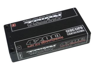 TRION HV Lipo <4200/7.6V/120C/1Sサイズ/4mm>