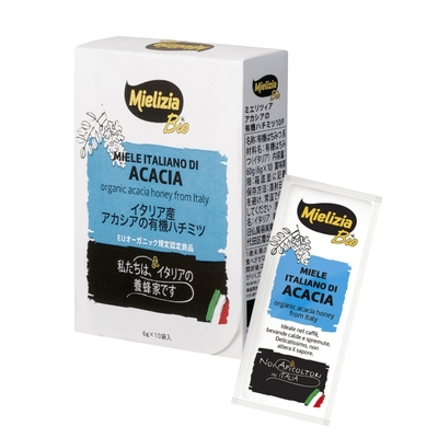 イタリア産アカシアの有機ハチミツ 6g×10本入り