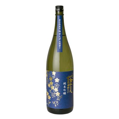 桜顔純米吟醸(吟ぎんが五割磨き) 1,800ml