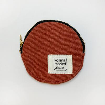 ベンガラ染丸コインケース