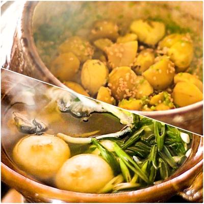 すっぽん鍋と栗ご飯セット