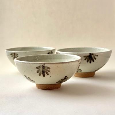 絵粉引唐津ご飯茶碗(葉っぱ)