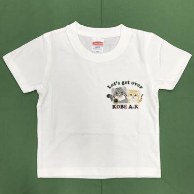 キッズLet's get overTシャツ マヌルネコ×スナネコ