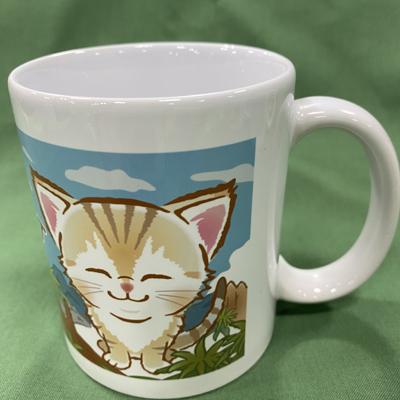 陶器マグカップ スナネコベビー風景