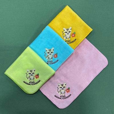 刺繍ミニタオル スナネコ 4色