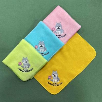 刺繍ミニタオル シンリンオオカミ 4色
