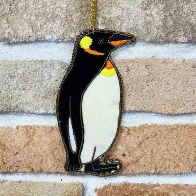 ペンギン ザリ刺繡キーホルダー