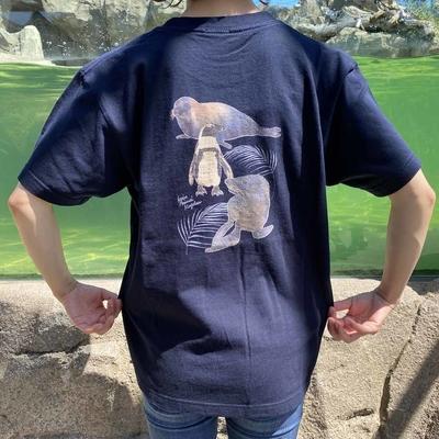 アクアバレー 染抜きTシャツ アザラシ オットセイ ケープペンギン