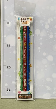 鉛筆3本セット ハシビロコウ×カピバラ×レッサーパンダ