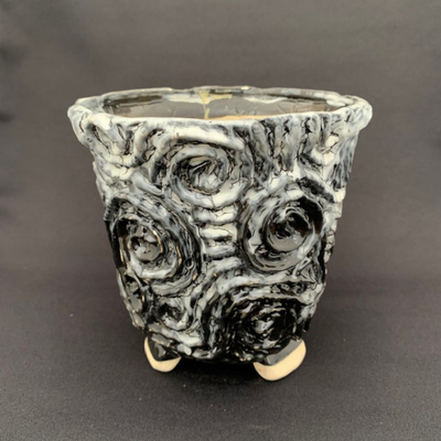 タイ鉢(白黒)