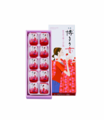 二鶴堂 博多の女 あまおう苺ミルク味 10個