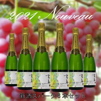 2021新酒スパークリングデラウェア 6本セット 【送料無料】