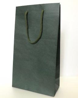 ワイン・ギフト用紙袋(ワイン2本用)グリーン