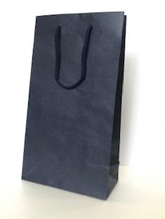 ワイン・ギフト用紙袋(ワイン2本用)ネイビー