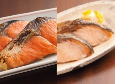 詰合せセット 紅鮭塩糀漬&白鮭甘塩漬 2切れ真空×2P&2切れ真空×2P