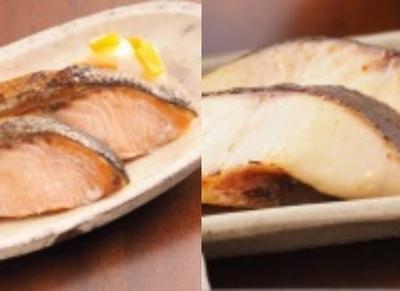詰合せセット 白鮭甘塩漬&銀だら味噌漬 2切れ真空×2P&2切れ真空×2P
