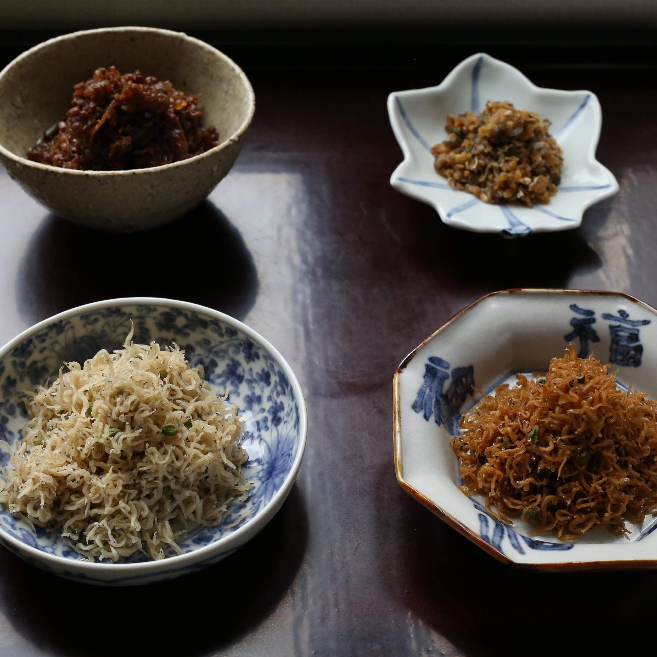 定番商品(ちりめん山椒、お惣菜)