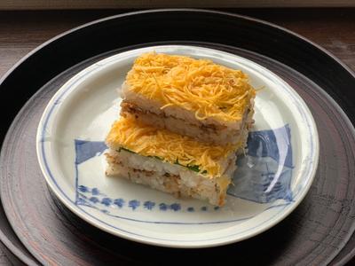 はも皮と錦糸卵の押し寿司(押し箱無し/レシピ/動画/食材付)