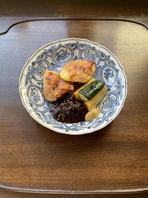 イチジクとズッキーニ ネギ味噌がけ(レシピ/動画/食材付)
