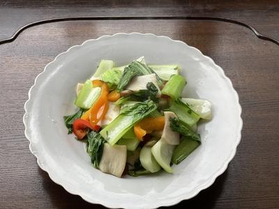 青梗菜とエリンギの紫蘇炒め(レシピ/動画/食材付)