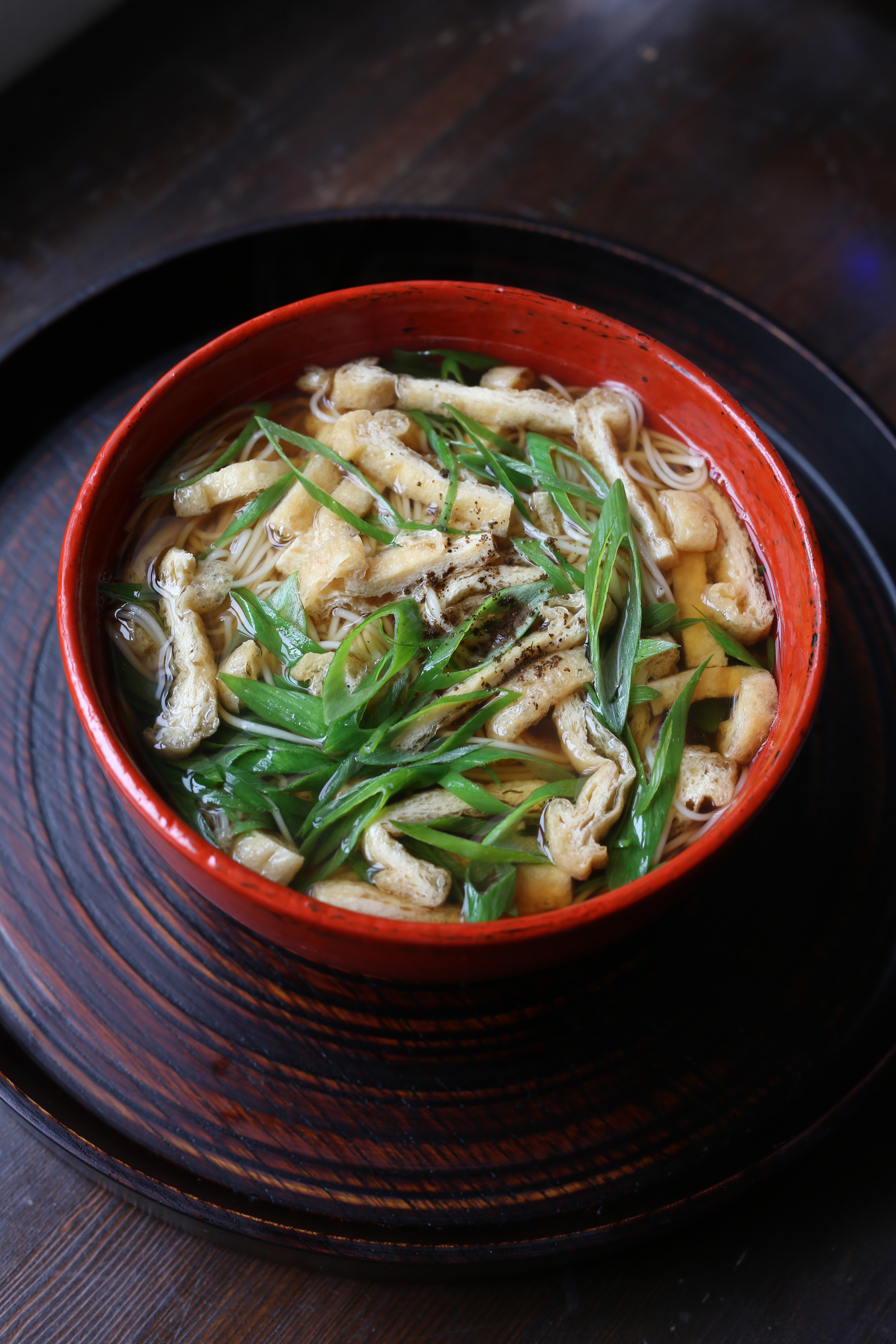 お揚げさんと九条ネギの煮麺(レシピ/動画/食材付)