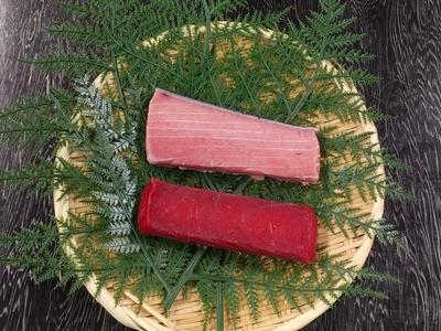 天然本鮪食べくらべセット 中トロ150g×1柵 赤身150g×1柵