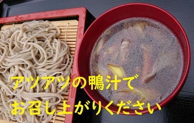 鴨汁セット2~3人前(鴨ロース9切、ネギの鴨脂焼き、つゆ付)※お蕎麦はついておりません