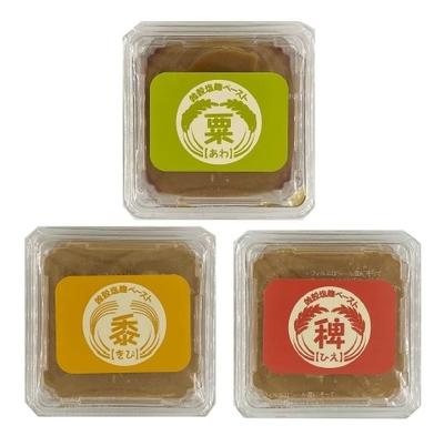 雑穀塩麹ペースト150g3種詰合せ(大豆不使用)
