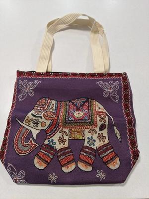 ゾウの刺繍バッグ /Elephant Thai style bag