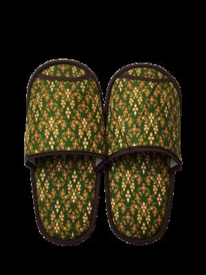 タイ伝統的柄 スリッパ(green)