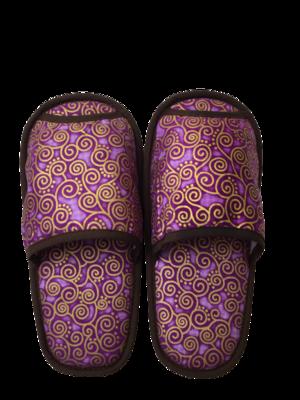 タイ伝統的柄 スリッパ(purple)