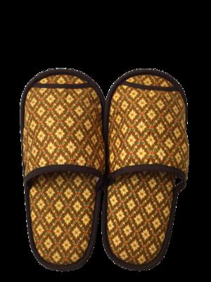 タイ伝統的柄 スリッパ(gold)