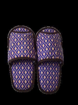 タイ伝統的柄 スリッパ(blue)