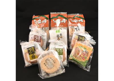 盛岡せんべい店 お得な人気商品詰合 アマビエプリント煎餅付 【0020277】