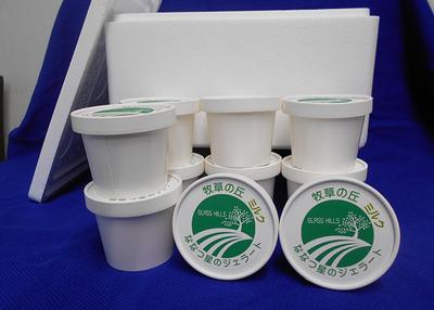牧草の丘 ななつ星アイスクリーム 10個入りセット 容器保冷剤付き【0020942】