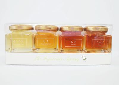 藤原養蜂場 岩手の蜂蜜4本セット(ゆりの木、栃、藤、りんご)【0020264】