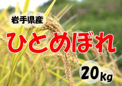 松勘商店 令和2年度産 岩手県産ひとめぼれ 20kg 【0021183】